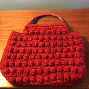 Vintage Handmade Knit Handbag